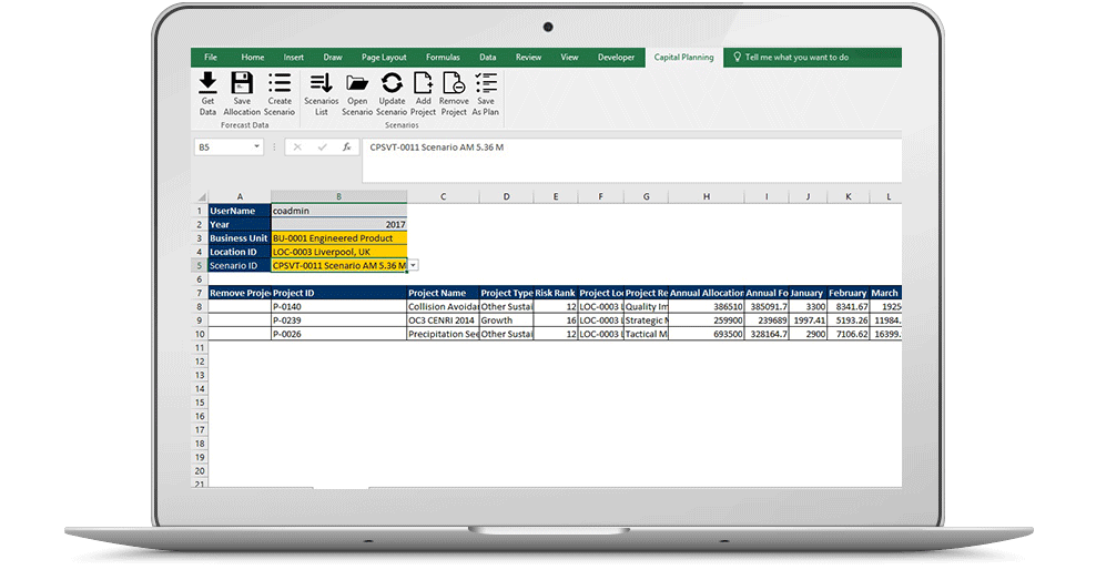 Excel PfM Solution